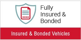 Fully Insured & Branded Vehicles