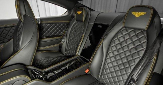 Sausalito Bentley Continental interior